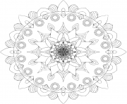 Coloriage mandala islam arabic indian moroccan