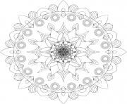 Coloriage mandala printemps dessin