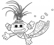 Trollex King of Techno Trolls 2 dessin à colorier
