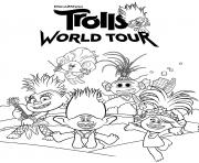 DreamWorks Trolls 2 World Tour  dessin à colorier