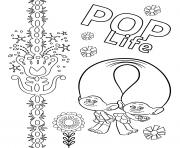 Pop Music Trolls 2 World Tour  dessin à colorier