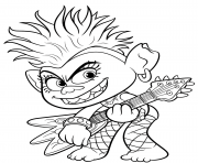 Coloriage Trolls 2 World Tour Barb