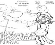 Trolls 2 World Tour Hidden Elements Game dessin à colorier