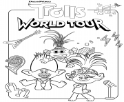 Coloriage Super Trolls 2 World Tour