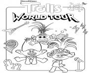 Super Trolls 2 World Tour dessin à colorier