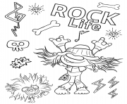 Coloriage Hard Rock Trolls 2