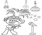 Queen Poppy  dessin à colorier