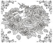 adulte licorne mandala par kchung dessin à colorier