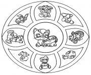 mandala animaux petshop dessin à colorier
