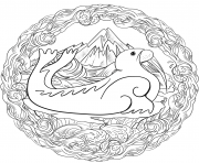 Morse Mandala Par Lesya Adamchuk dessin à colorier