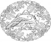 Vautour Mandala Par Lesya Adamchuk dessin à colorier