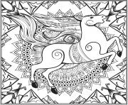 Cheval Mandala Par Lesya Adamchuk dessin à colorier