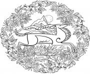Chevre Mandala Par Lesya Adamchuk dessin à colorier