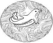 Dauphin Mandala Par Lesya Adamchuk dessin à colorier