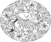 Flamingo Mandala Par Lesya Adamchuk dessin à colorier