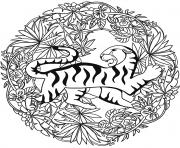 Tigre Mandala Par Lesya Adamchuk dessin à colorier