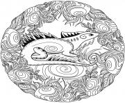 Lezard Mandala Par Lesya Adamchuk dessin à colorier