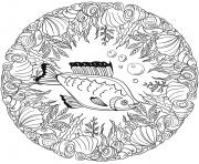 Poisson Mandala Par Lesya Adamchuk dessin à colorier