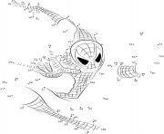 Coloriage Point A Relier Spiderman Super Hero