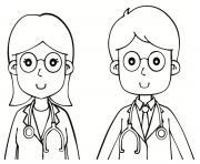 Coloriage medecin chirurgien dessin