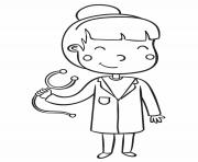 Coloriage docteur medecin dessin