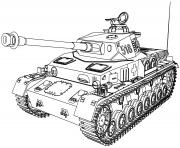 tank vehicule militaire dessin à colorier