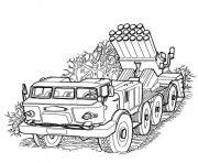 vehicule militaire dessin à colorier