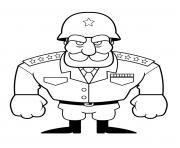 chef militaire de larmee dessin à colorier