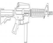 Evers Colt 9mm SMG dessin à colorier