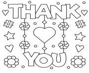 fete des meres thank you fleurs stars coeurs dessin à colorier