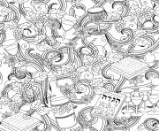 Mandala Vin Raisin Ode a Yvecourt dessin à colorier