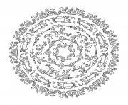 mandala du bin par Yvecourt dessin à colorier