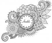 mandala fleurs et vegetations anti stress par bimbimkha dessin à colorier