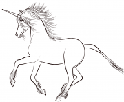 Coloriage lovely licorne