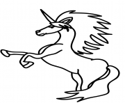Coloriage rearing licorne