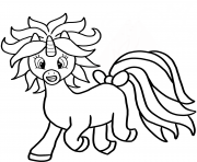 cartoon licorne dessin à colorier