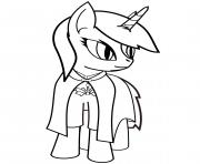 cute pony licorne dessin à colorier