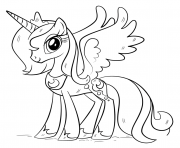 Princess My Little Pony Pegasus licorne dessin à colorier