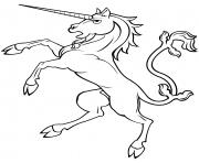 rearing licorne 1 dessin à colorier