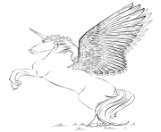 licorne beautiful wings by Lena London dessin à colorier