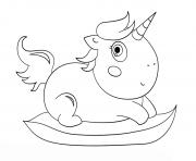 baby chibi licorne dessin à colorier