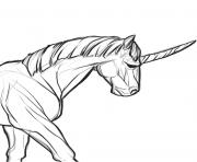 realistic real licorne dessin à colorier