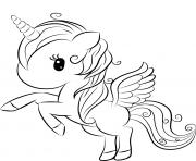cute licorne 2 dessin à colorier