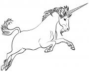 classic licorne dessin à colorier