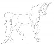 Coloriage young licorne