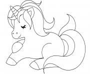 Coloriage licorne cartoon pattern dessin