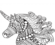 licorne zentangle 27 dessin à colorier