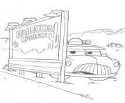 flash mcqueen planque sherif dessin à colorier