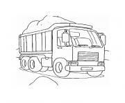 Coloriage camion chantier