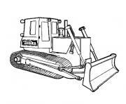 camion de travaux dessin à colorier